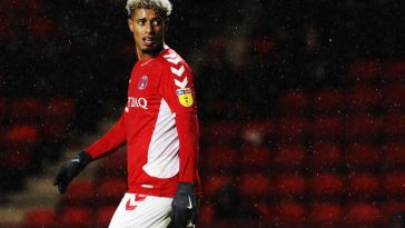 Lyle Taylor of Charlton Athletic reacts during the Sky Bet League One match between Charlton Athletic and AFC Wimbledon at The Valley. (Getty Images)