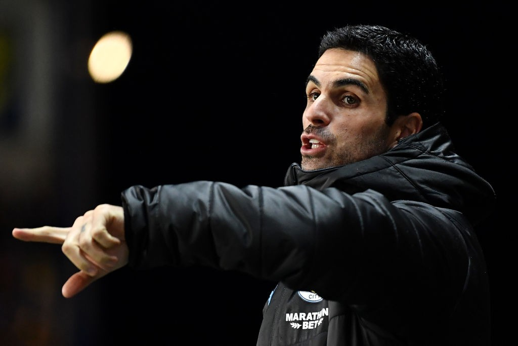 Mikel Arteta, Assistant Manager of Manchester City reacts during the Carabao Cup Quarter Final match between Oxford United and Manchester City at Kassam Stadium on December 18, 2019 in Oxford, England. (Getty Images)