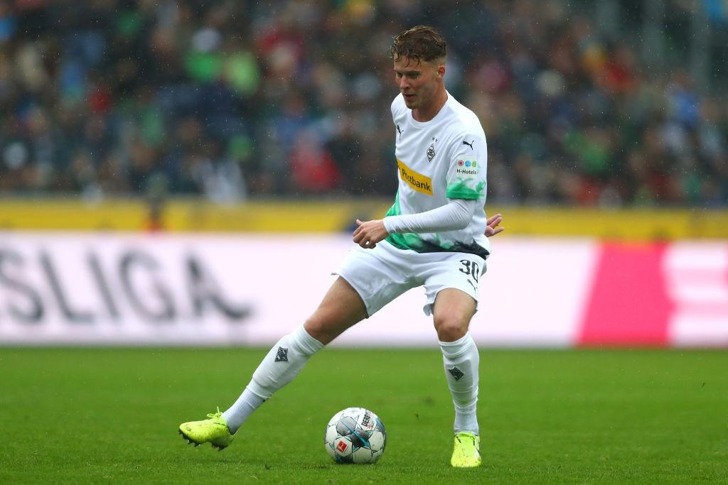 Nico Elvedi of Borussia Monchengladbach of Borussia Monchengladbach in action during the Bundesliga match between Borussia Moenchengladbach and FC Augsburg at Borussia-Park. (Getty Images)