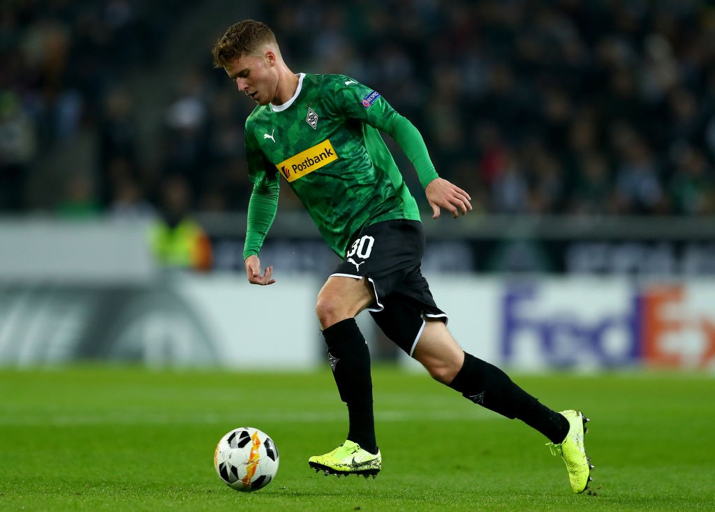 Nico Elvedi of Monchengladbach runs with the ball during the UEFA Europa League group J match between Borussia Moenchengladbach and AS Roma at Borussia-Park. (Getty Images)