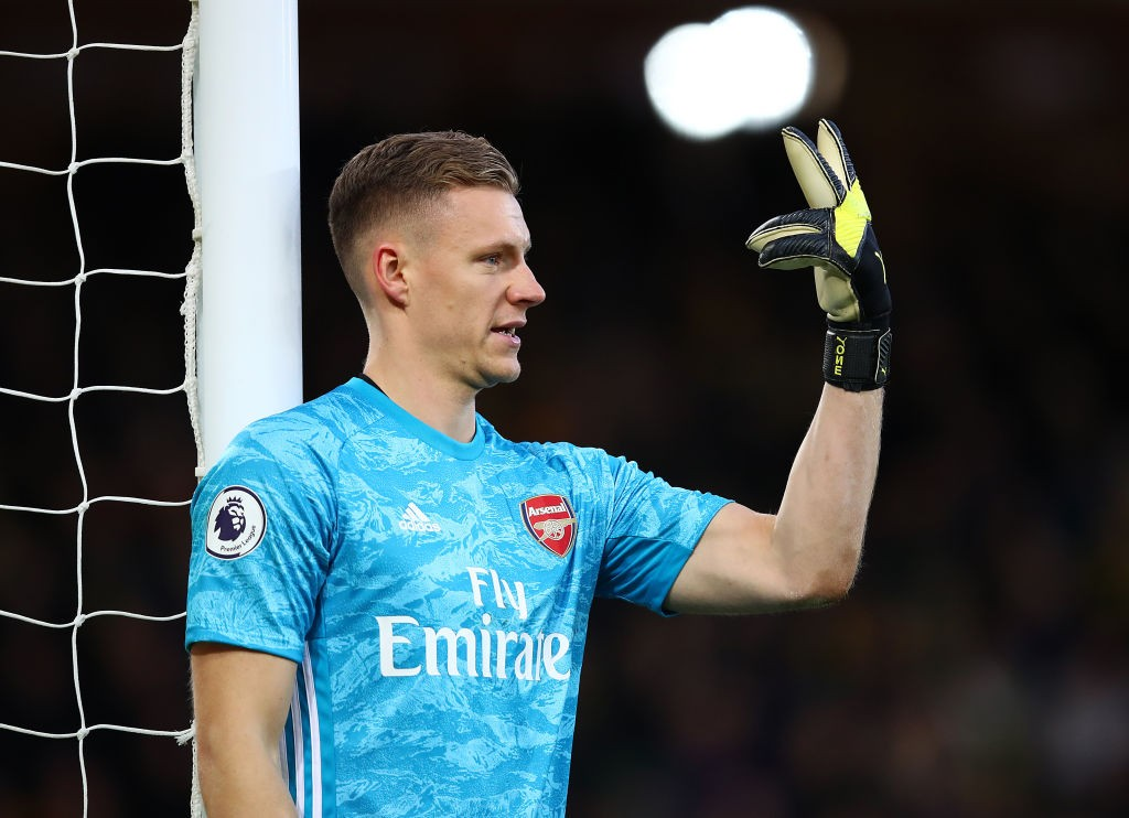 First-choice keeper Bernd Leno.
