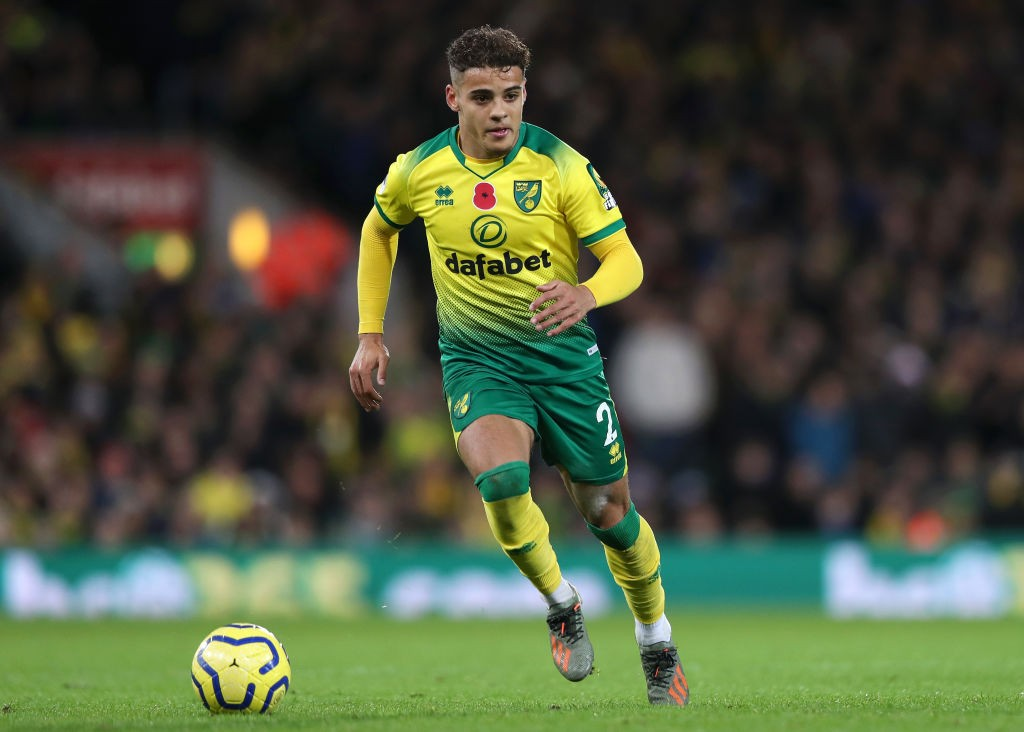 Norwich City right-back Max Aarons.