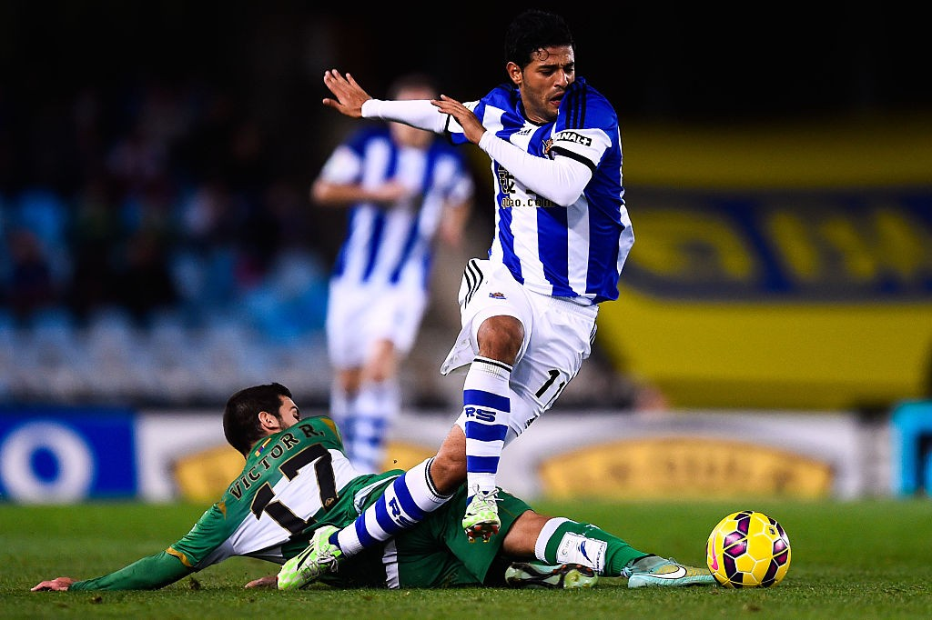 Vela while playing for Real Sociedad.