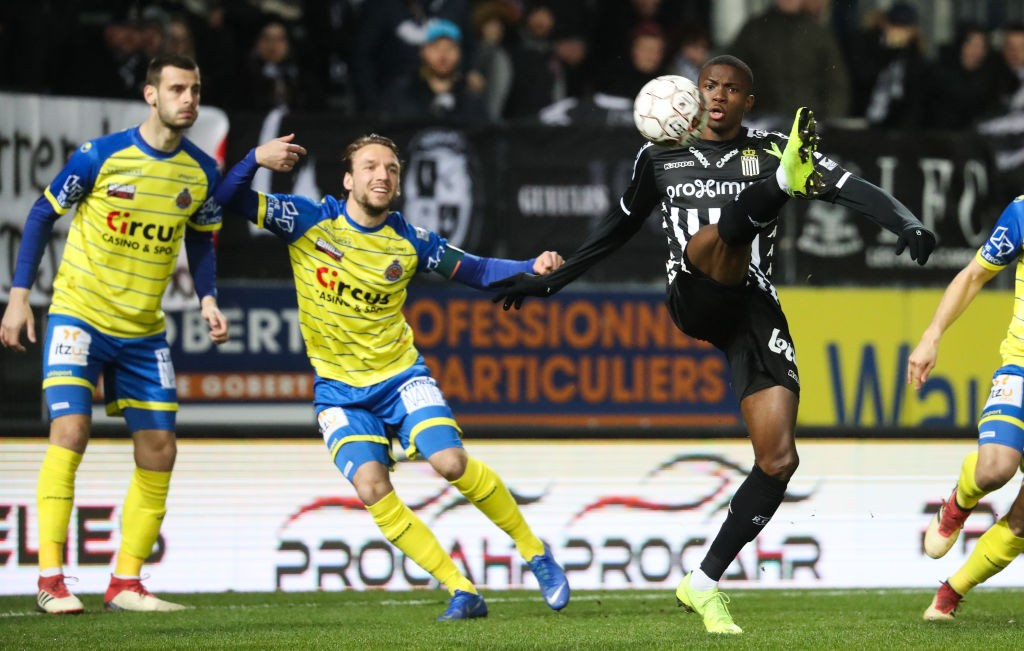 Osimhen while playing for Charleroi in the Belgian top-flight.