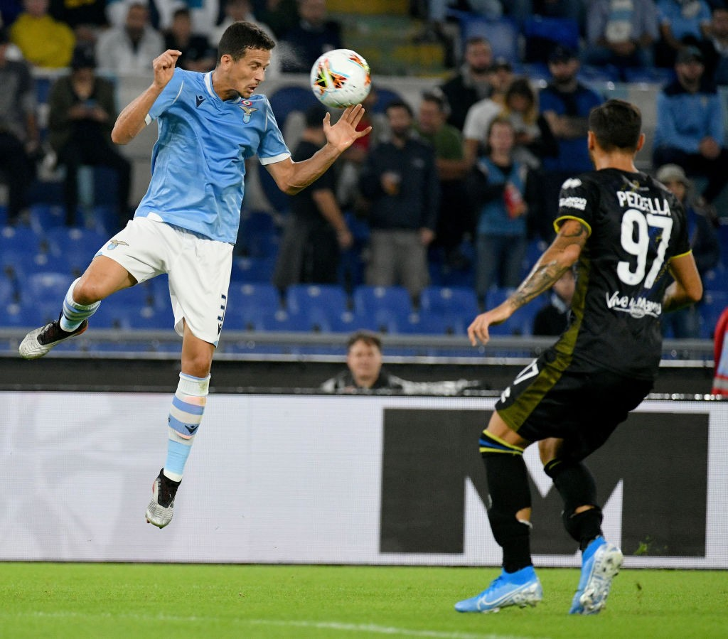 Felipe in action for Lazio during a Serie A league encounter.