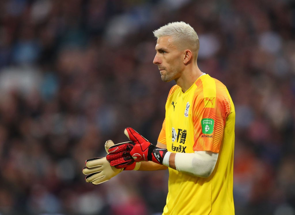 Guaita during a Premier League encounter.