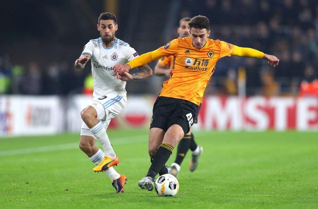 Wolves defender Max Kilman in action.