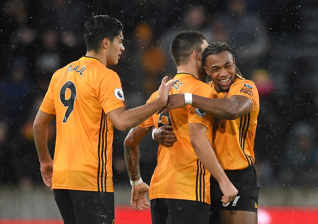 Wolves players celebrating after a goal (Getty Images)