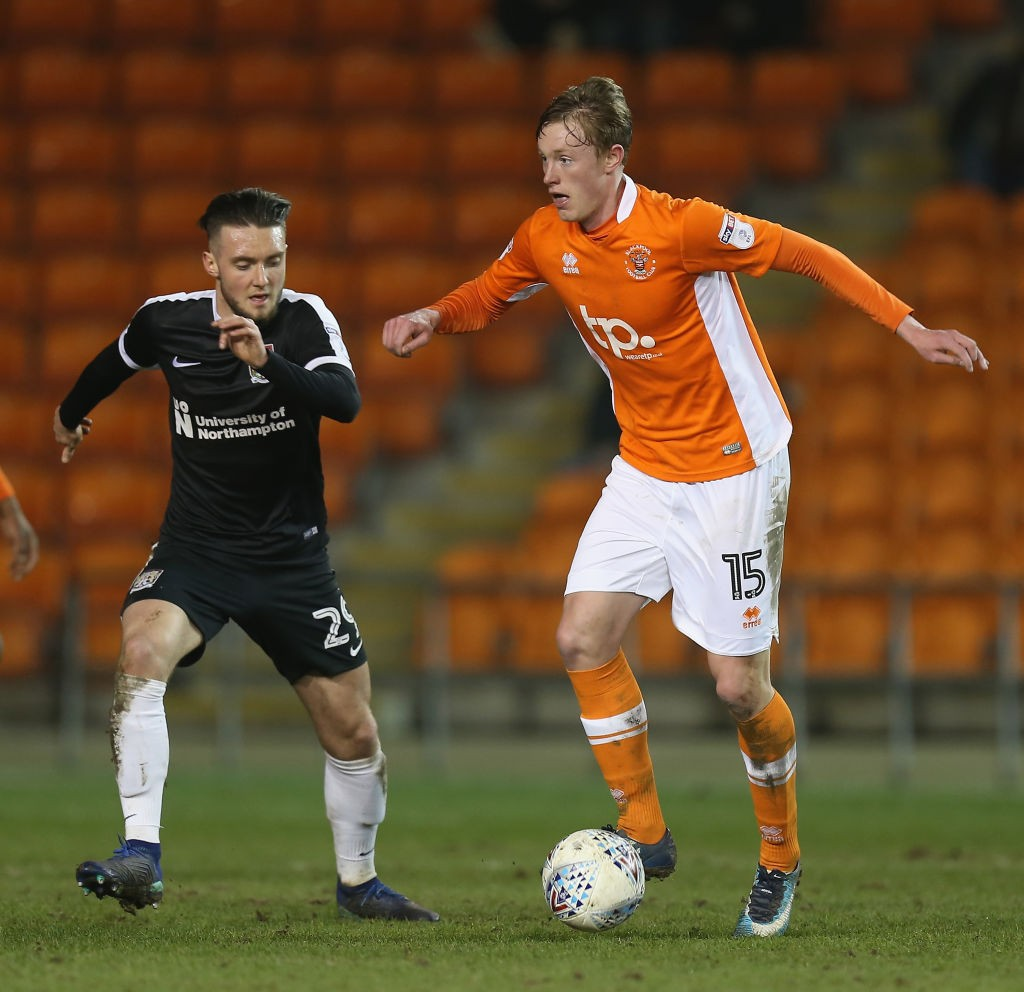 Longstaff during his loan spell with League One outfit Blackpool.