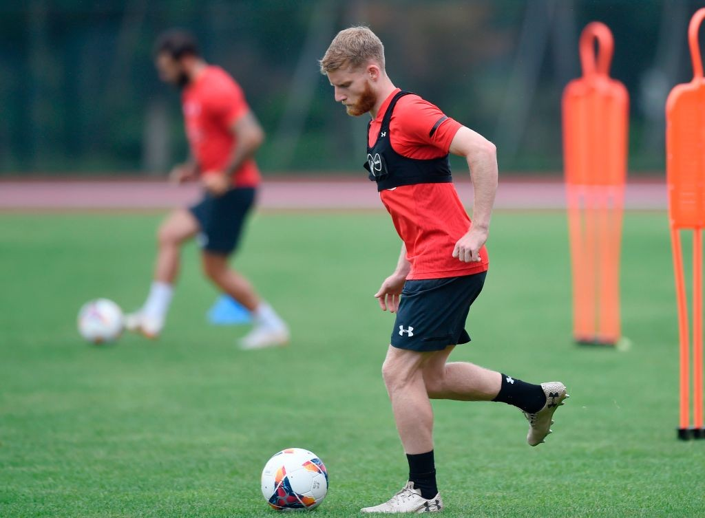Sims during a Southampton training session.
