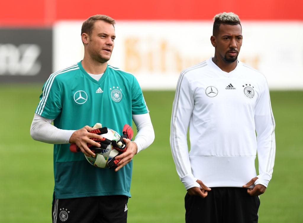 Boateng alongside German goalkeeper Manuel Neuer.