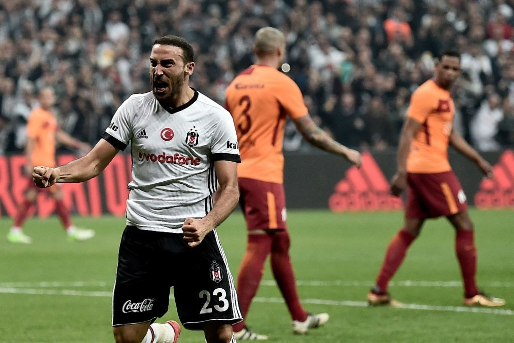 Cenk Tosun while playing for his former side Besiktas.