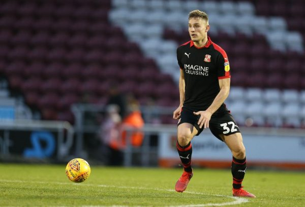 Luke Woolfenden of Swindon Town in action during the Sky Bet League Two match between Northampton Town and Swindon Town at PTS Stadium on December 26, 2018 in Northampton, United Kingdom. (Getty Images)