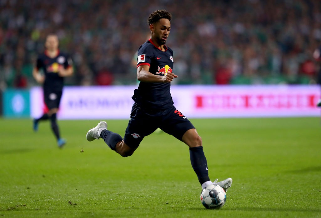 Matheus Cunha of Leipzig runs with the ball during the Bundesliga match between SV Werder Bremen and RB Leipzig (Getty Images)