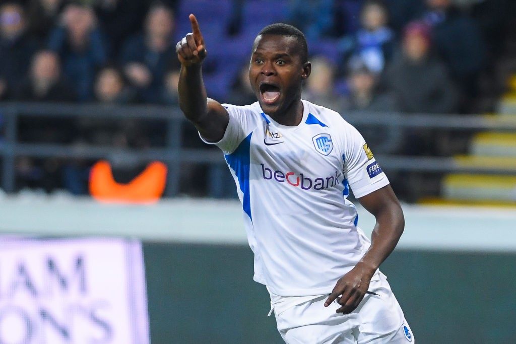 Genk's Aly Mbwana Samatta reacts during a soccer match between RSC Anderlecht and KRC Racing Genk, Sunday 22 December 2019 in Brussels, on day 20 of the 'Jupiler Pro League' Belgian soccer championship season 2019-2020. (Getty Images)