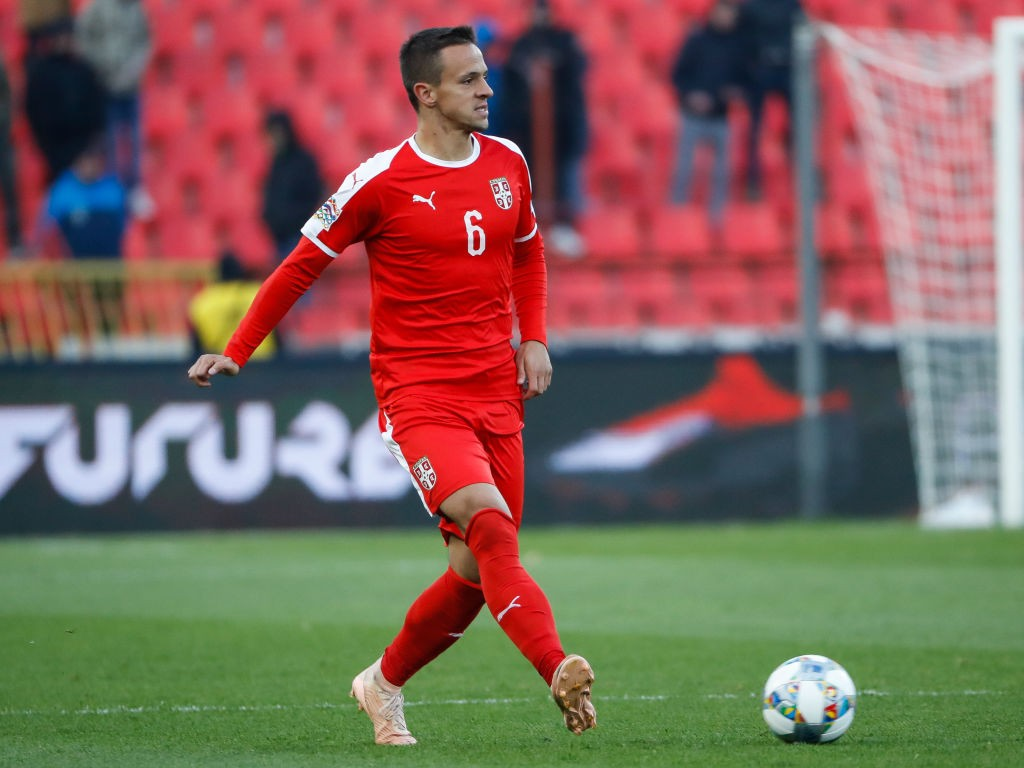 Nemanja Maksimovic of Serbia in action during the UEFA Nations League C group four match between Serbia and Montenegro at stadium Rajko Mitic on November 17, 2018 in Belgrade, Serbia. (Getty Images)