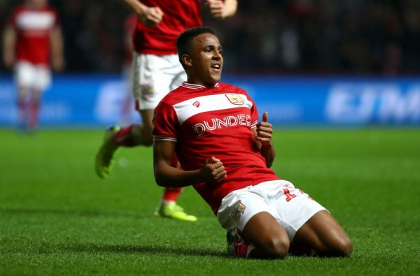 Niclas Eliasson of Bristol City celebrates scoring the 2nd Bristol City goal during the FA Cup Fourth Round match between Bristol City and Bolton Wanderers at Ashton Gate on January 25, 2019 in Bristol, United Kingdom. (Getty Images)