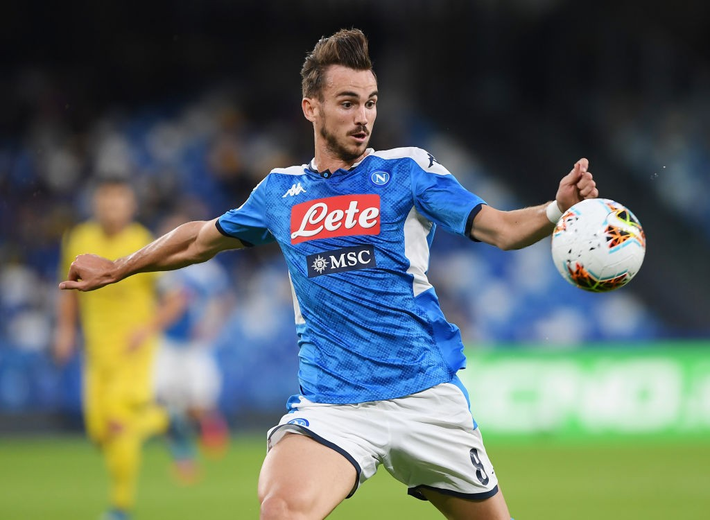 Napoli midfielder Fabian Ruiz tries a shot during a Serie A encounter.
