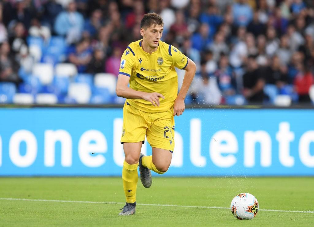 Hellas Verona's teenage defender Marash Kumbulla.