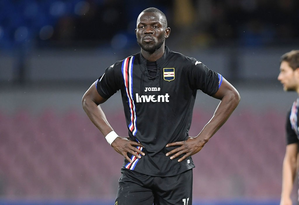 Sampdoria defender Omar Colley seen in action during a Serie A match.