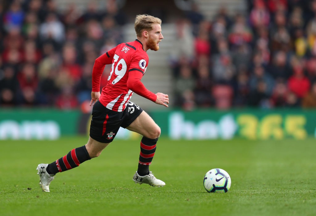 Josh Sims in action for Southampton.